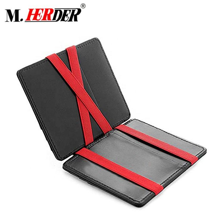 Hot Europe Style RFID Protector Real Leather Boy Thin Slim Magic Wallet