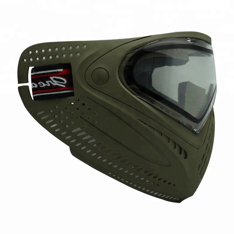 Green Color Paintball Mask with Thermal Lenses Anti-fog for Outdoor Sport Paintball or Airsoft Game