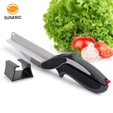 Hot Sale Multifunction Stainless Steel Clever Scissors Smart Vegetable Food and Fruit Scissor