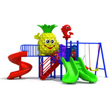 china top high quality outdoor playground plastic slide and swing kids kindergarten play outdoor equipment