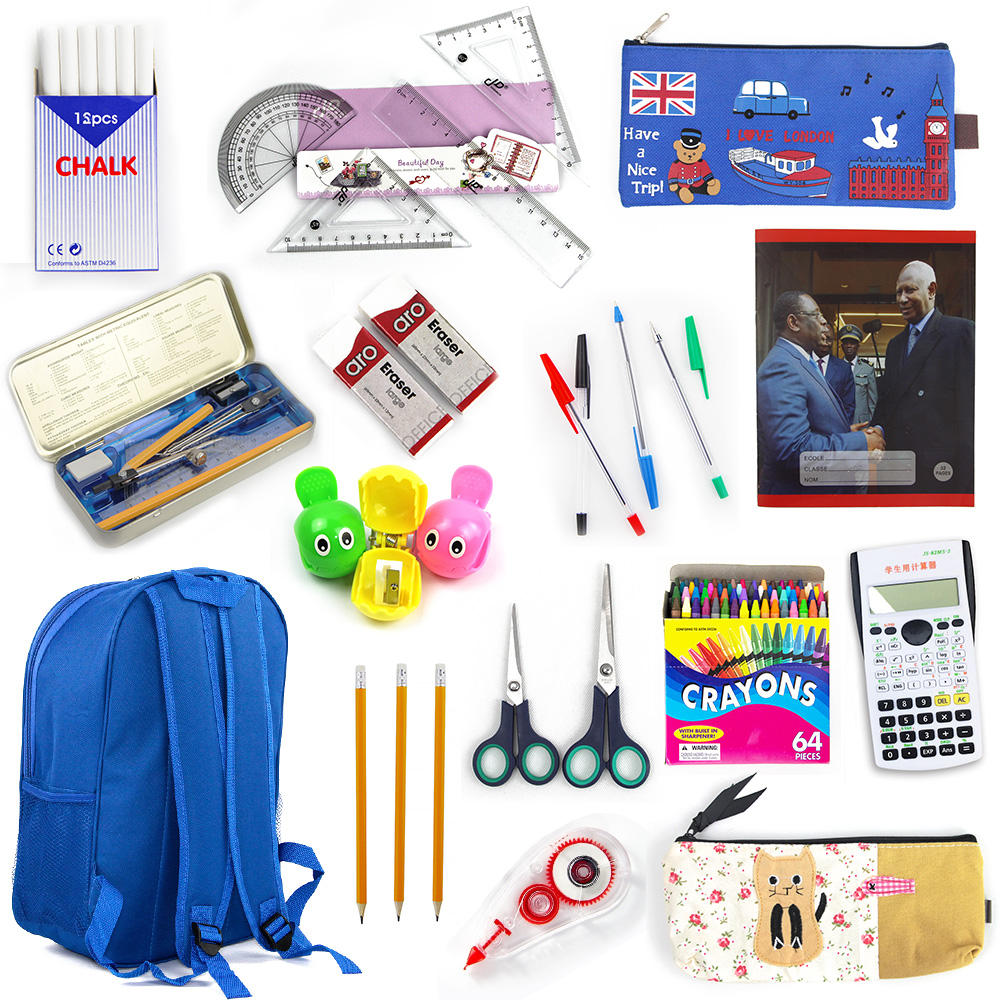 Student backpack school for kids stationery set we can offer all the Back to school stationery government tender bid