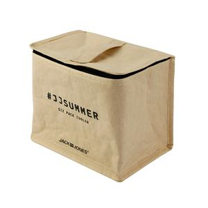 Whole sale eco friendly small size custom design kraft paper natural colorcustom logo cooler lunch bag paper