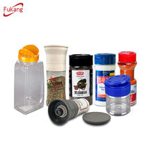 60 ml 2 oz Empty small pepper seasoning shaker bottle plastic spice jar