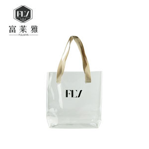 custom logo women transparent beach handbag tote clear pvc jelly bag