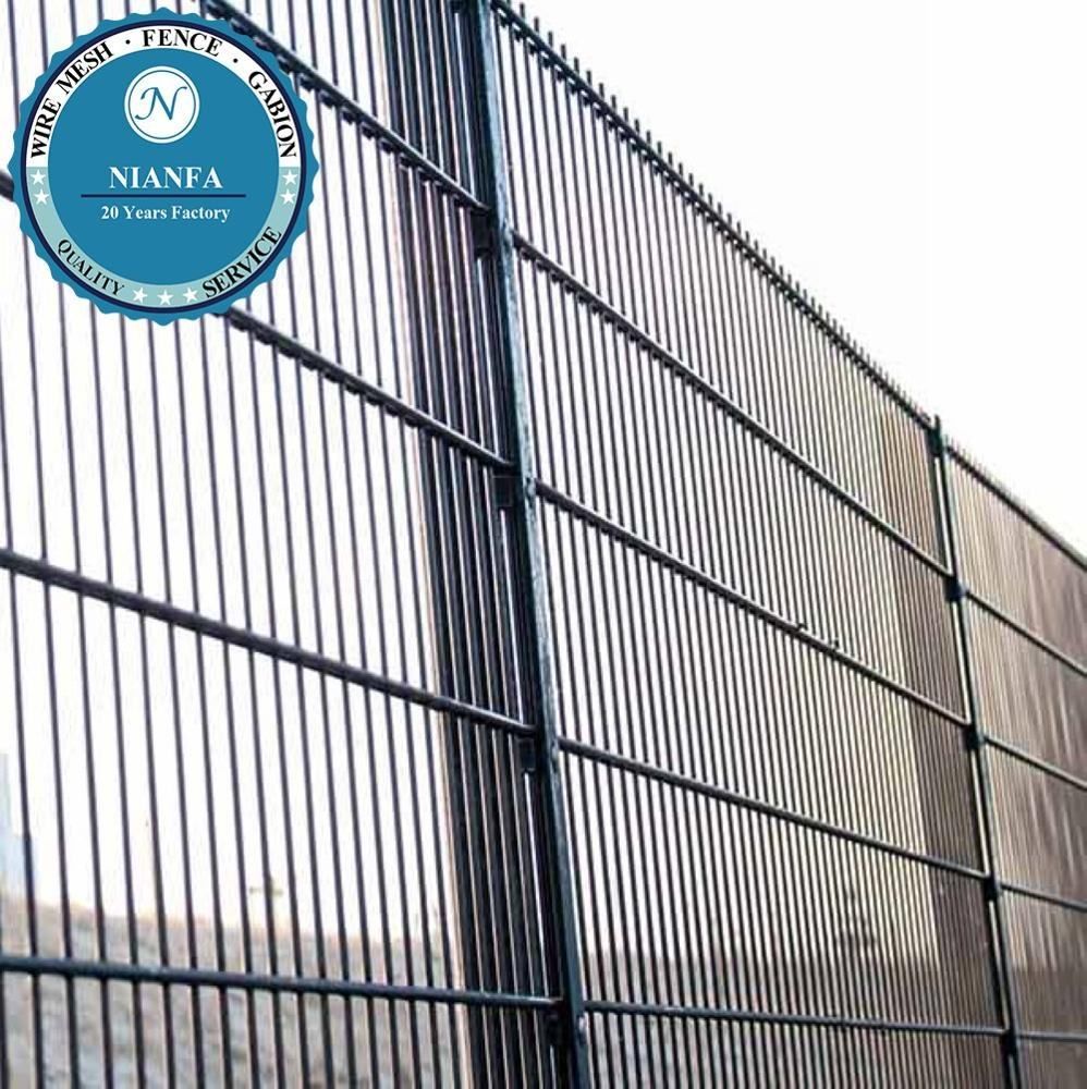 Double Wire Fence / Ornamental Twin Wire Mesh Fencing For Sports Field(Guangzhou Factory)