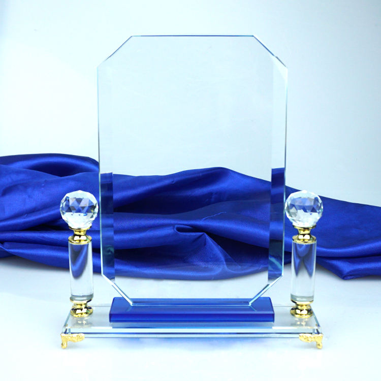 Block Award Plaque Trophy K9 Crystal Glass