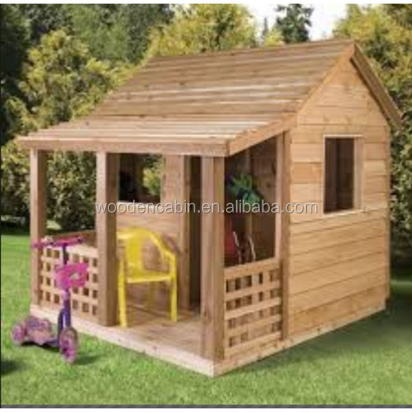 low cost prefabricated wood folding play house from China