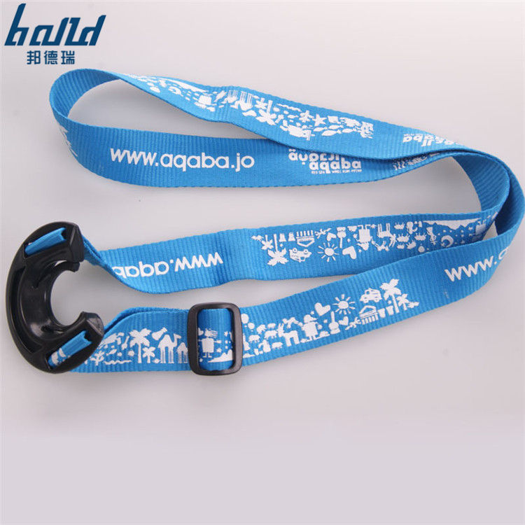 Factory wholesale printed custom water bottle holder neck lanyard strap