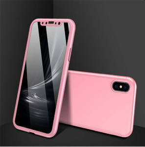 Mobile accessory 360 degree coverage pc tempered glass case for Iphone X/XS/XR/XS MAX mobile phone cover