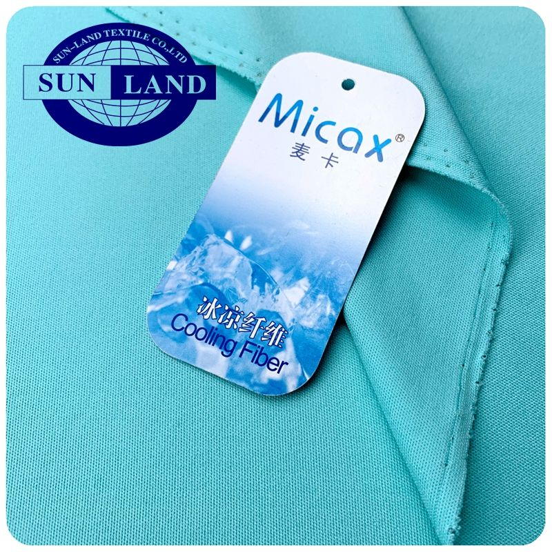 summer print products 100% nylon micax brand knitted cool touch feeling jersey fabric