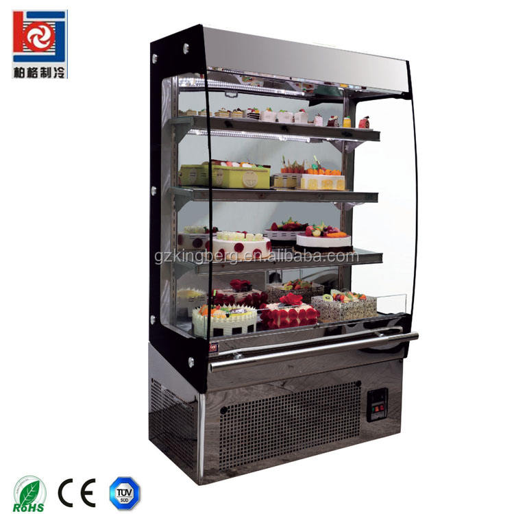Double side opening cheese sandwich fruit display refrigerator