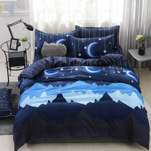 2018 New Cheap 100% cotton / polyester 4pcs Bedding Set / bed Sheets