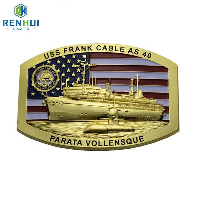 Custom low price 3D design personalized logo military tactical gold plated solid brass metal belt buckles for man sale