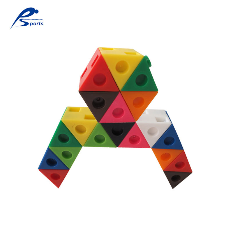 Triangle shape mathlink cubes connecting cube puzzle toy linking cube