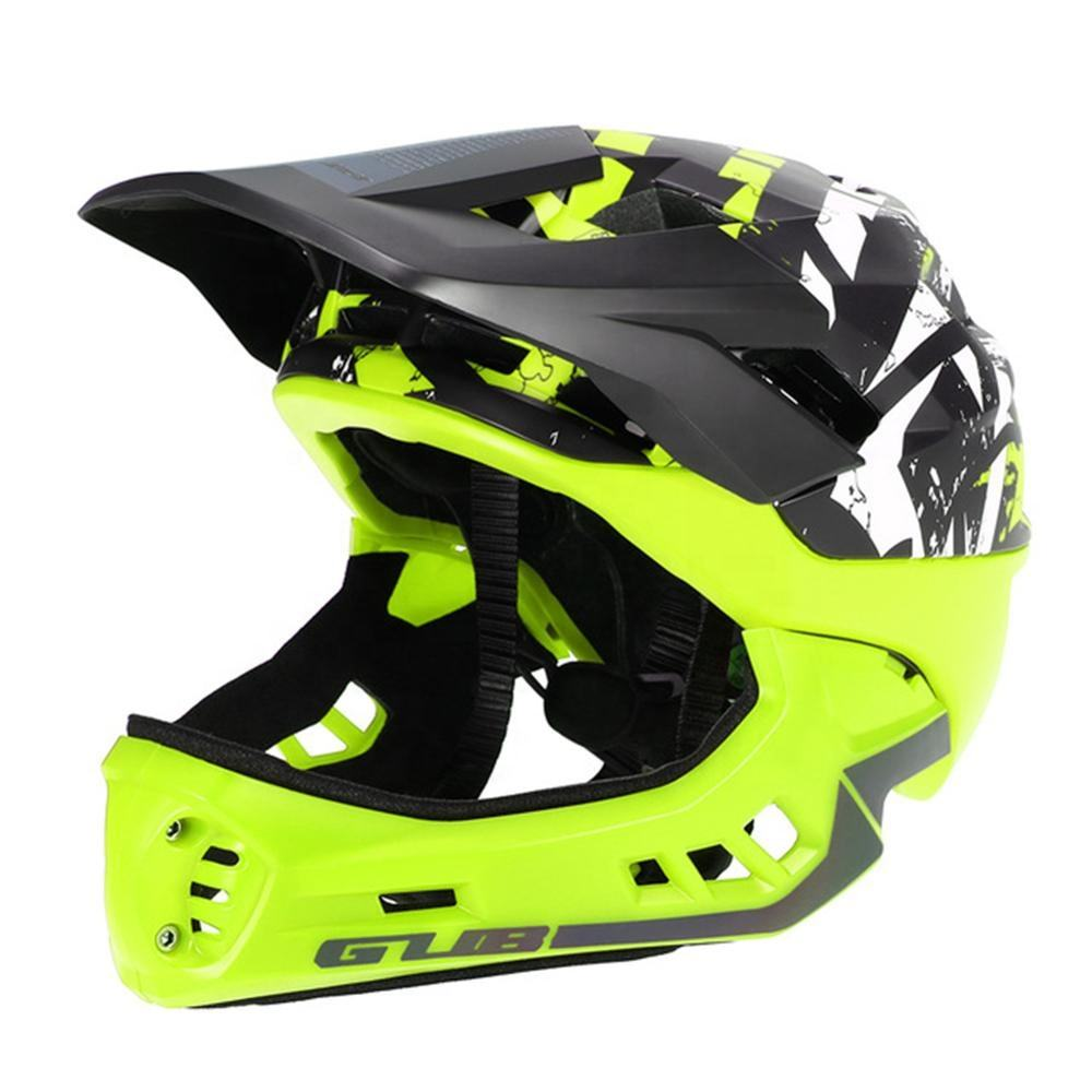 GUB FF Off-road Mountain Full Face Bike Helmet Sport Safety Kids Full Covered Helmets DH Helmet Downhill Bicycle Helmet S M Size