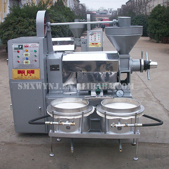 Cold Coconut Oil Extraction Rapeseed Soybean Sunflower Sesame Seeds Peanut Oil Press Machine Refining Plant 6YL-100A
