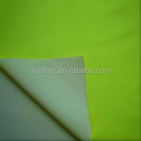 Alta calidad 300d impermeable y transpirable verde fluorescente tela oxford