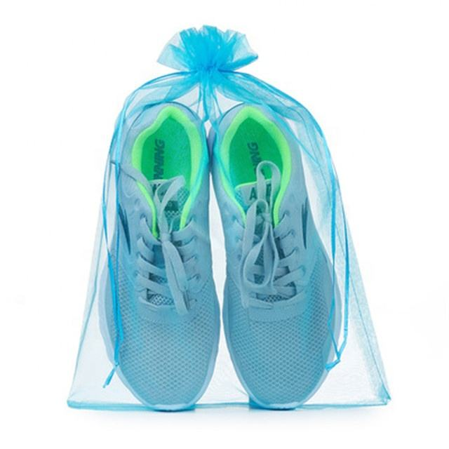30*40 센치메터 큰 Organza Drawstring Shoes Pouch Gifts 포장 백