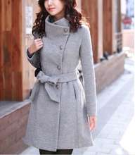 Onenweb D94333T winter korean slim trench coat for women