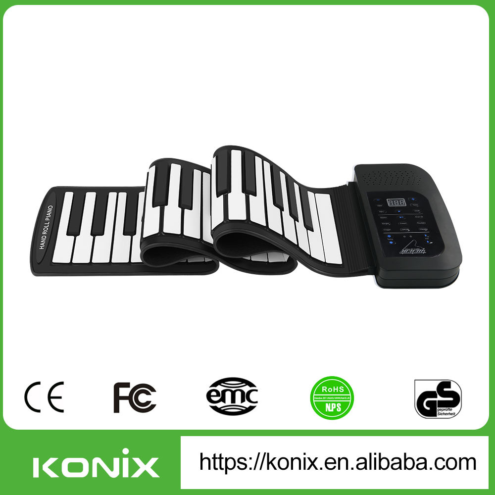 gulungan fleksibel up piano elektronik portabel 61 tombol keyboard lunak
