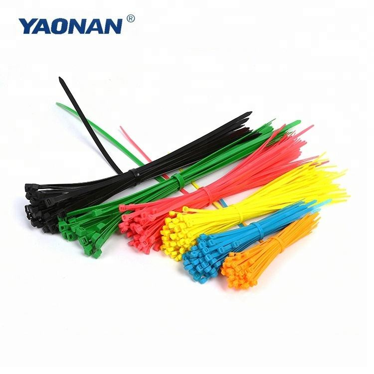 50pcs black nylon self-locking cable ties plastic wire straps 4.8*400//7.6*400mm