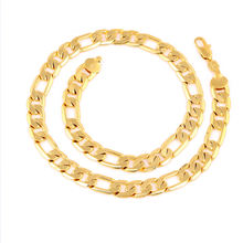 Xuping China gold 24K jewellery figaro punk party men's necklace