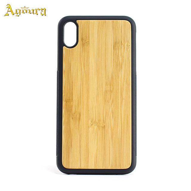 Customize TPU and PC Wooden Phone Case Protect for iPhoneXS/XS Max