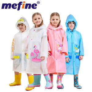 Customized Waterproof Schoolbag Safe Tape Cartoon Plastic Rain Coat Raincoat Kkids For School mj869