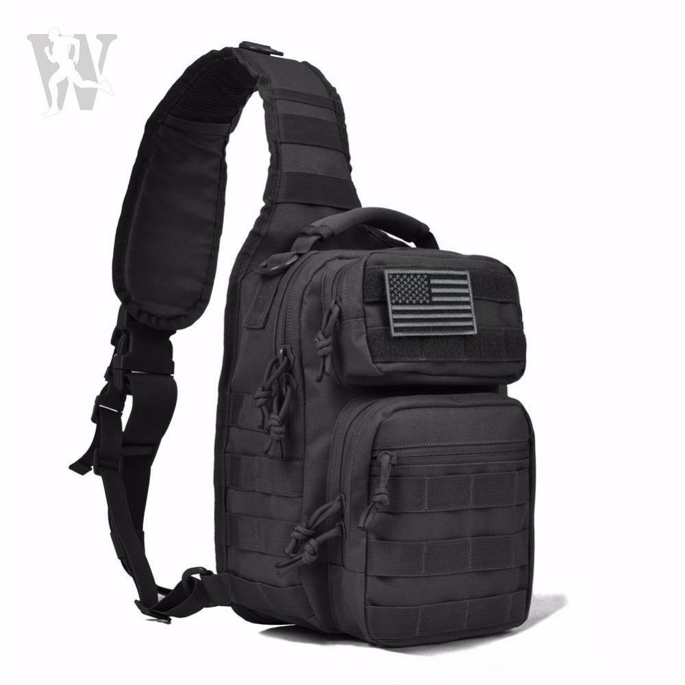 Waterproof Molle Assault Range Best Military Tactical Hiking Traveling Bags Shoulder Best Sling Backpack