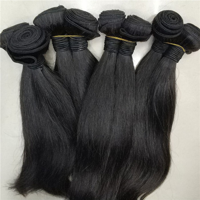 Lestfly wholesale 10A unprocessed Full temple Indian Virgin hair One Donor Cuticle Aligned silky straight Hair extension