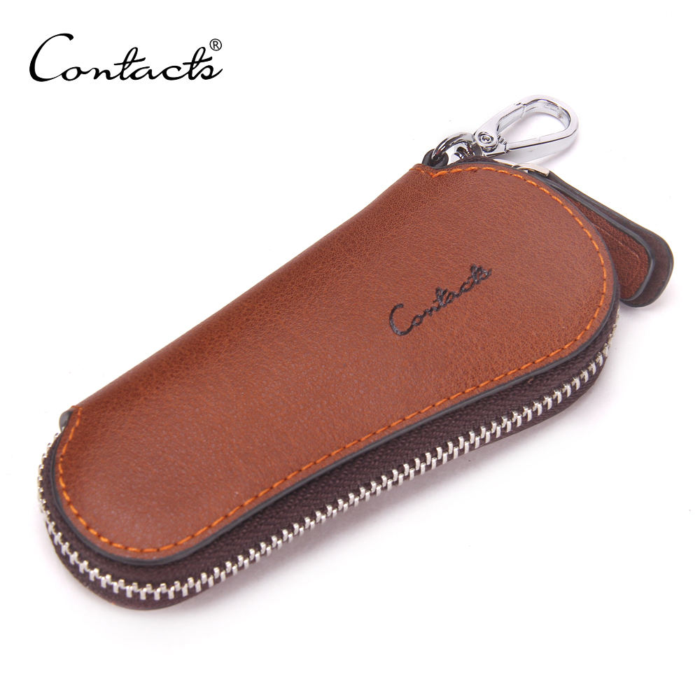Wholesale Fashion Men Genuine Cow Leather Car Key Case