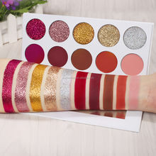 New Arrival Rainbow Your Eyes Glitter and Matte 10color Eyeshadow Palette Rainbow Eye Shadows Multicolor