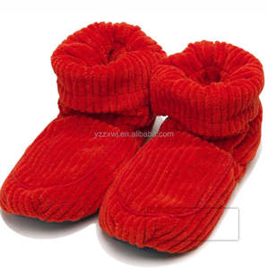 Red color Warmies Microwave Slipper Boots 핫 microwave custom 봉 제 슬리퍼 microwave 핫 socks 슬리퍼