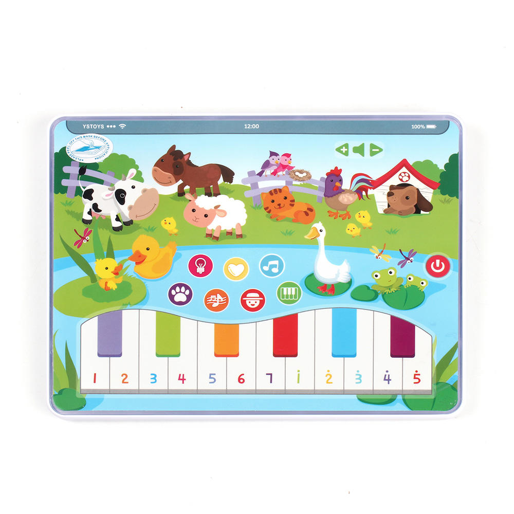 Hot Selling Kinderen Computer Tablet Laptop Engels <span class=keywords><strong>Machine</strong></span> Kids <span class=keywords><strong>Leren</strong></span> Speelgoed Met Licht