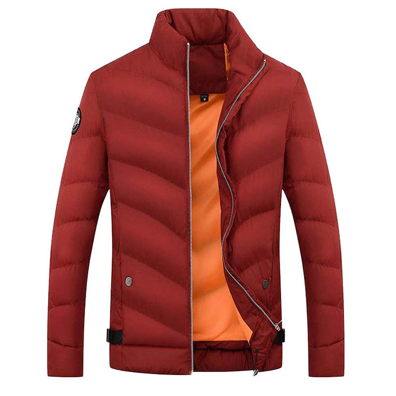 Factory Price Goose Down Jacket Men Winter Coat Plus Size Casual Solid Color Soft Cozy Warm Man Coat
