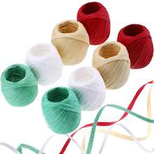 Natural Christmas Flowers Gift Ribbon Paper Raffia Yarn String Rope  Wire Paper Raffia