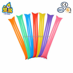 10x Inflatable Balloon Stick Clapper Cheer leading Cheering Party Noise Maker