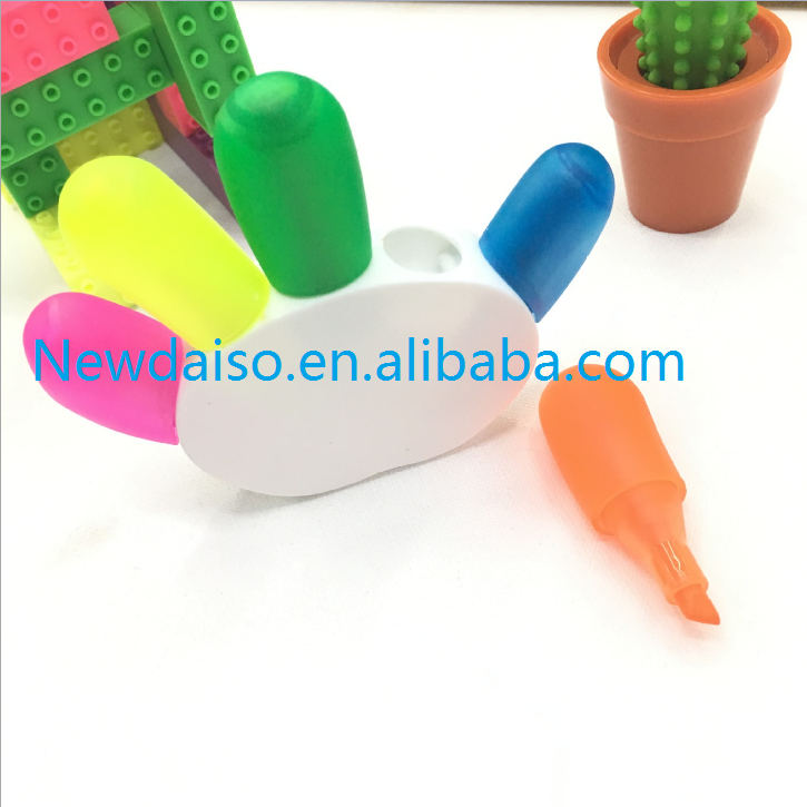 2018 china factory direct wholesale creative fancy fluorescent hand shaped highlighter pen