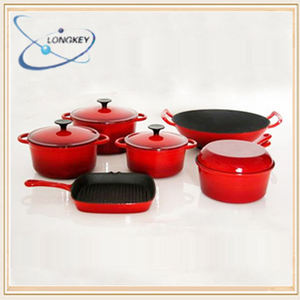 Hot koop emaille koekenpan set kookgerei, koken pan set cook