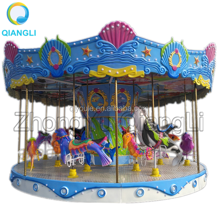 Christmas Mini Electric Small Carousel Rides Toy Rental for Sale