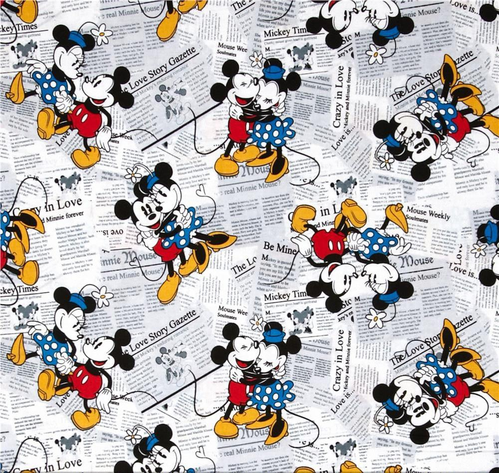 textile wholesale all kinds of printed fabrics Mickey cartoon pattern animal design digital printing fabric