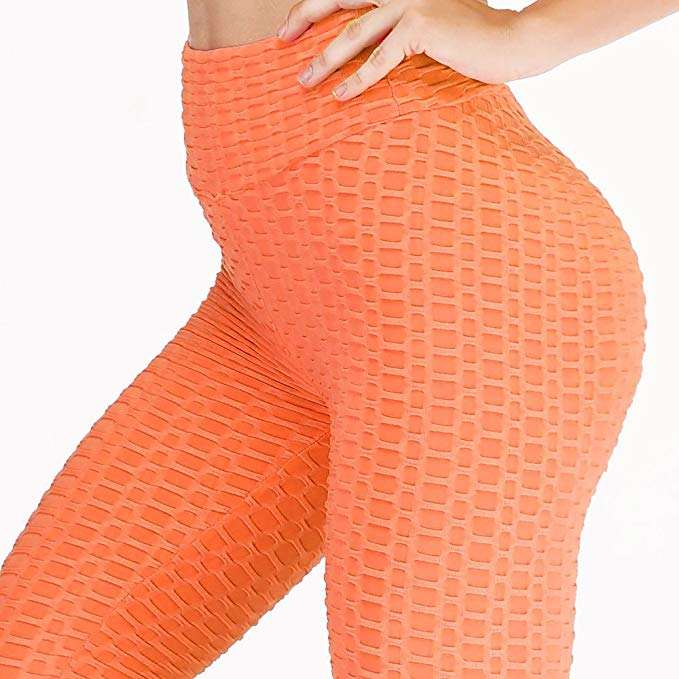 New Style Orange Leggings Womens Sexy Butt Scrunch Yoga Pants