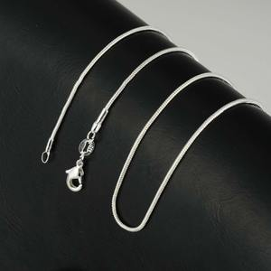 Hot Sale Fashion 1.2mm Silver Plated Snake Chain Necklace