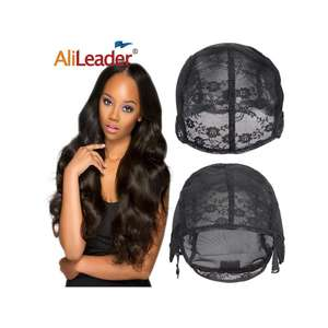 AliLeader Popular Glueless Full Lace Weaving Wig Cap For Making Wigs Adjustable