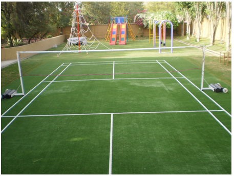 BADMINTON COURT ARTIFICIAL GRASS COURTS