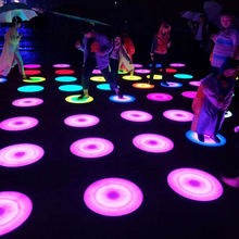 China business equipment interactive round led light dance floor