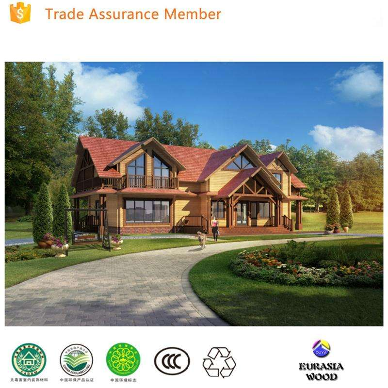 China supplier customized two floor prefab wooden house india price