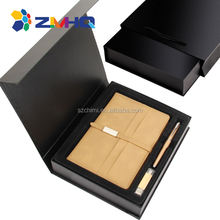 A5 pu notebook sign pen  otg usb flash drive special gift set
