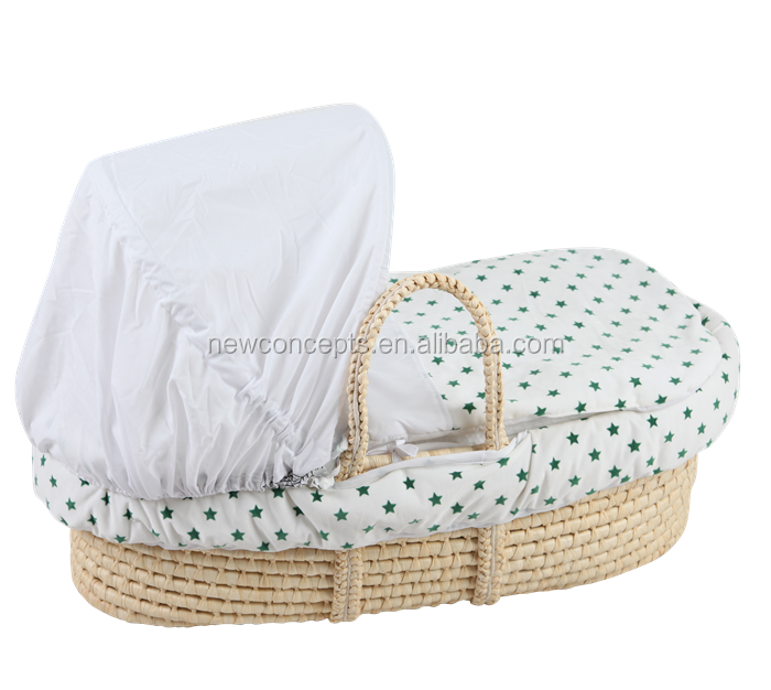 Hot Sells High Quality 100% Handmade Baby Maize Moses Basket/Baby Bassinet