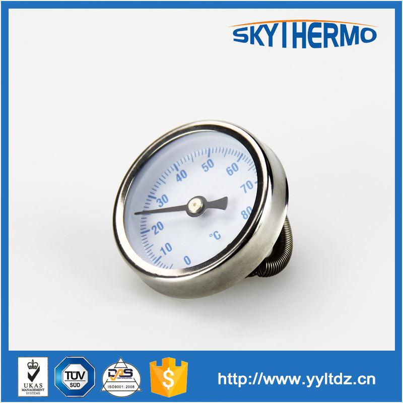 Voltar conexão 120c full ss industrial bimetal termômetro medidor de temperatura
